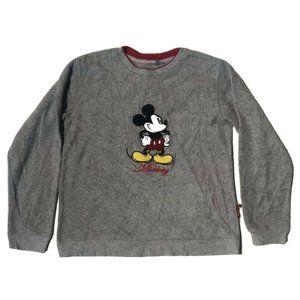 Disney Mickey Womens Sweatshirt Crew Gray Pullover